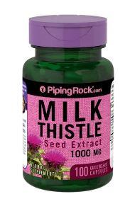 Piping Rock, Milk Thistle Seed Extract, Silymarin, 1000 mg (100 Caps)
