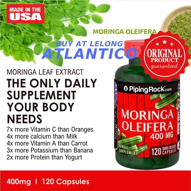 Piping Rock, Moringa Oleifera, 400 mg, 120 Capsules