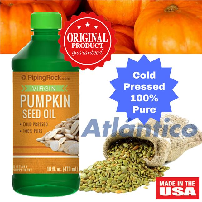 Piping Rock, Pumpkin Seed Oil (Cold Pressed) 473 mL Bottle