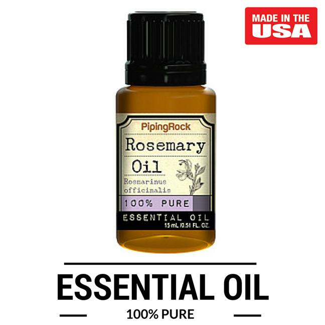 Piping Rock  Rosemary 100% Pure Essential Oil (15 ml) Dropper Bottle