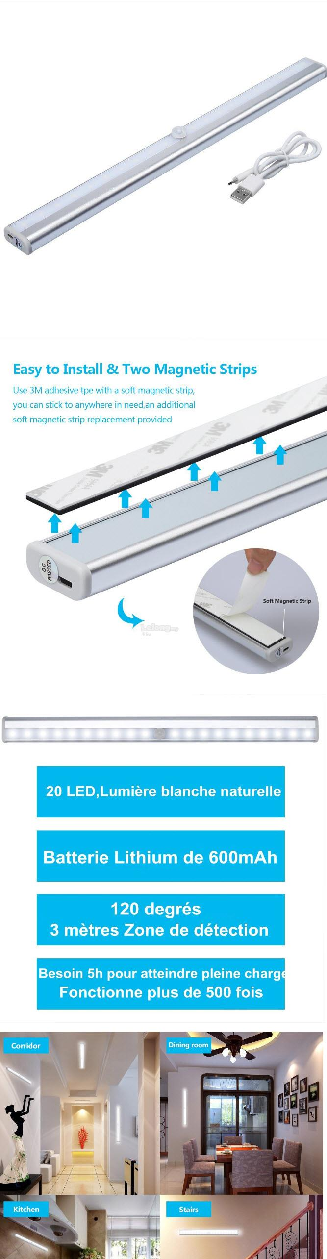PIR Motion Sensor Cabinet LED Light (end 5/19/2019 10:15 PM)