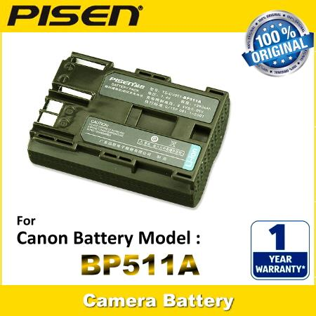 PISEN Camcorder Battery BP-511A Canon MV500 MV500i ZR10 MV530i MV400i