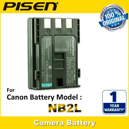 PISEN Camera Battery NB-2L Canon ZR960 Elura 40MC 50 60 65 70 80 85 90