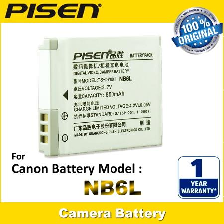 PISEN Camera Battery NB-6L Canon PowerShot SX270 HS SX280 HS SX500 IS