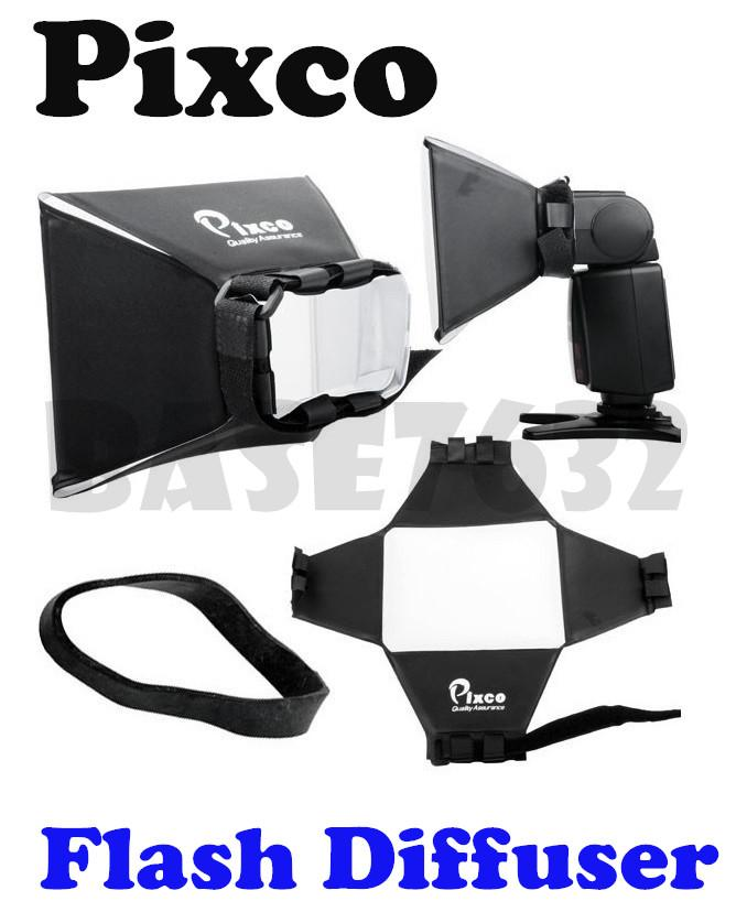 Pixco Camera Flash Diffuser Universal Soft Box Light DSLR