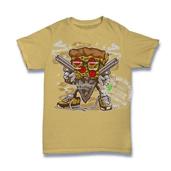 Pizza Gangster T-shirt Custom Tee