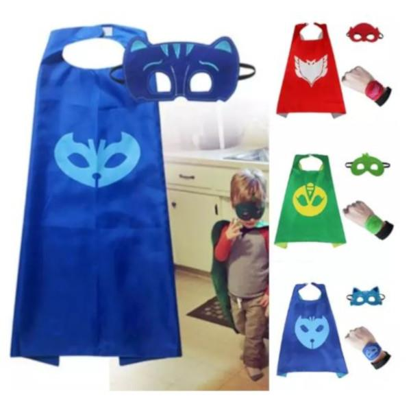 PJ Mask Super Team Kids Cape and Mask Costumes Party Set, Superhero