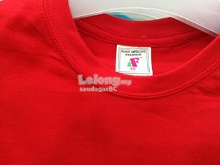 Plain Long Sleeve Round Neck T-shirt 100% Cotton - Red