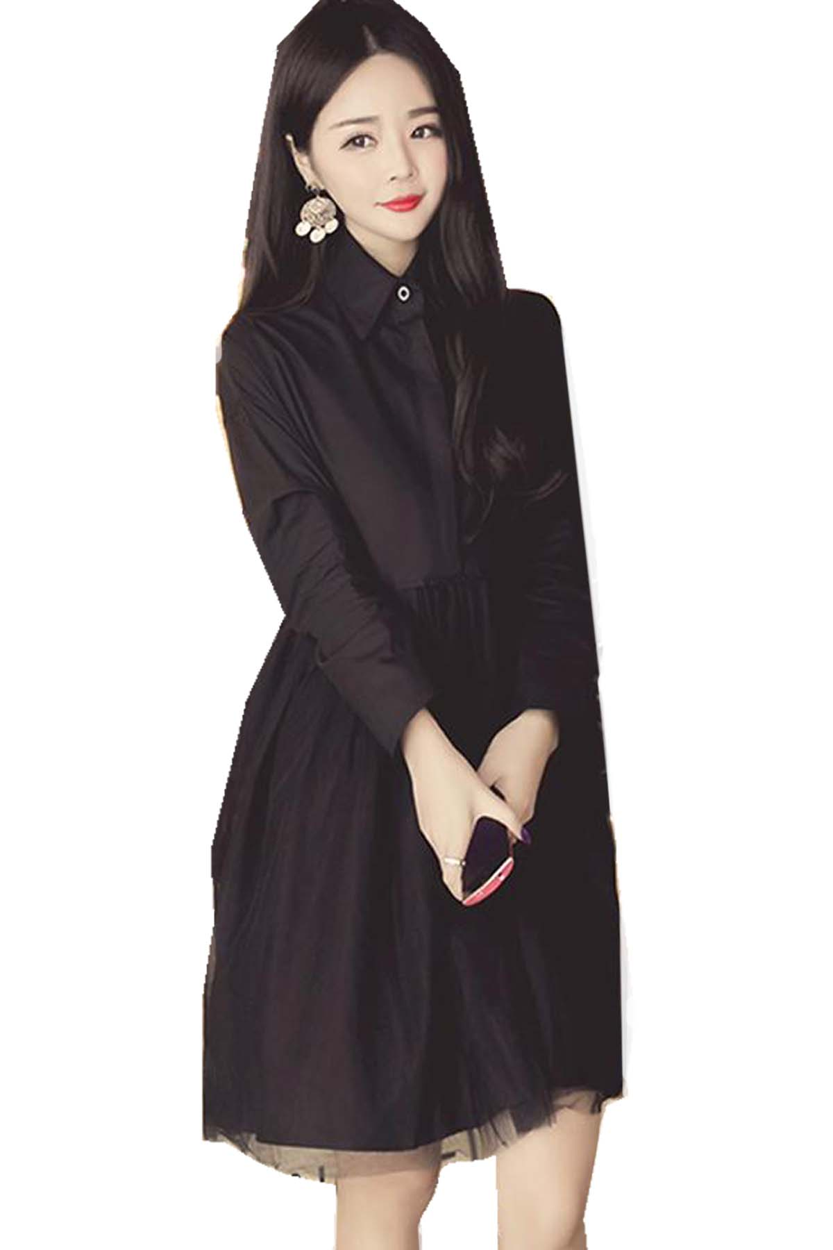 Plain maternity long sleeved dress end 10242019 1044 pm plain maternity long sleeved dress l xl xxl black ombrellifo Image collections