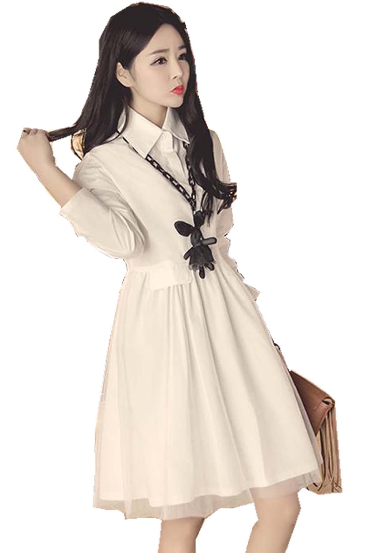 Plain maternity long sleeved dress end 10242019 1044 pm plain maternity long sleeved dress xl xxl xxxl white ombrellifo Choice Image