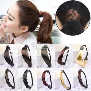 Plait Hair Rubber Band-Twist Ponytail Holder-Braided Wigs Rope-Elastic