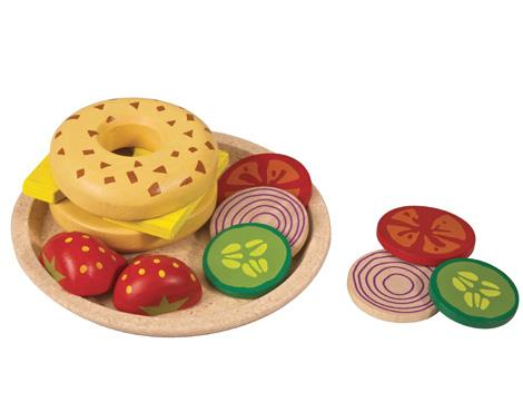 Plan Toys-Bagel with Cheese