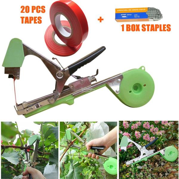 Plant Hand Tying Branch Binding Machine Garden Flower Vege Tape Tool