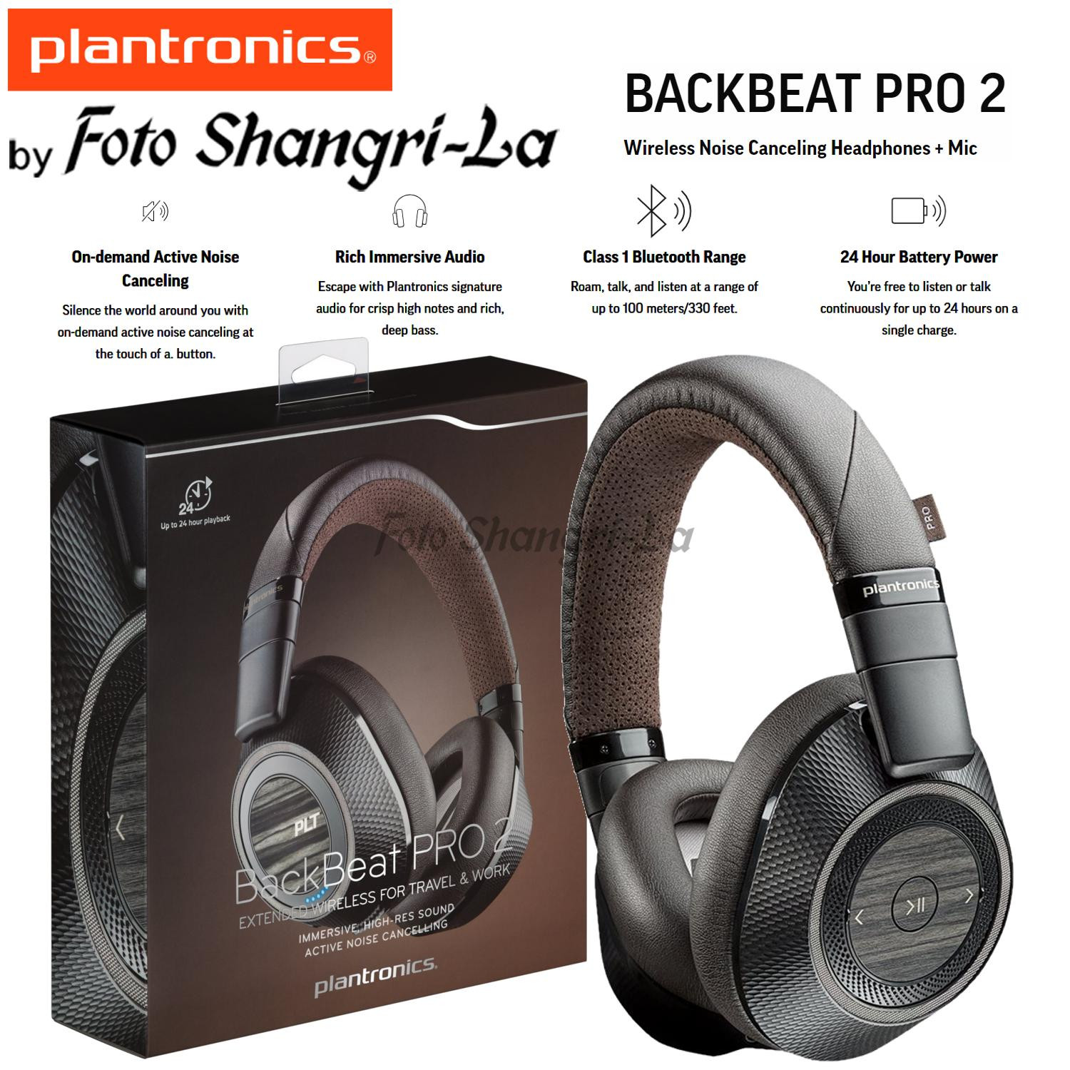 1717a8d0a21 Plantronics BACKBEAT PRO 2 Wireless Active Noise Canceling Over-Ear  Headphones. ‹ ›