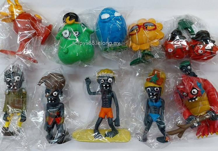 PLANTS VS ZOMBIES Figures. Zombie Figurine Toys / Cake Topper. 10 pcs
