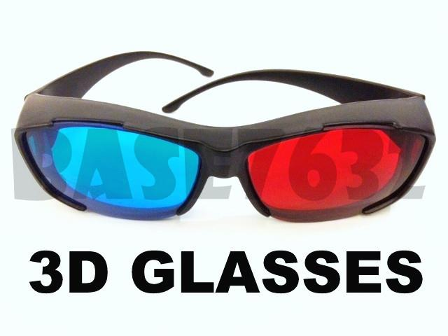 Plastic Anaglyphic Blue&Red TV Movie 3D Glasses 3D Vision
