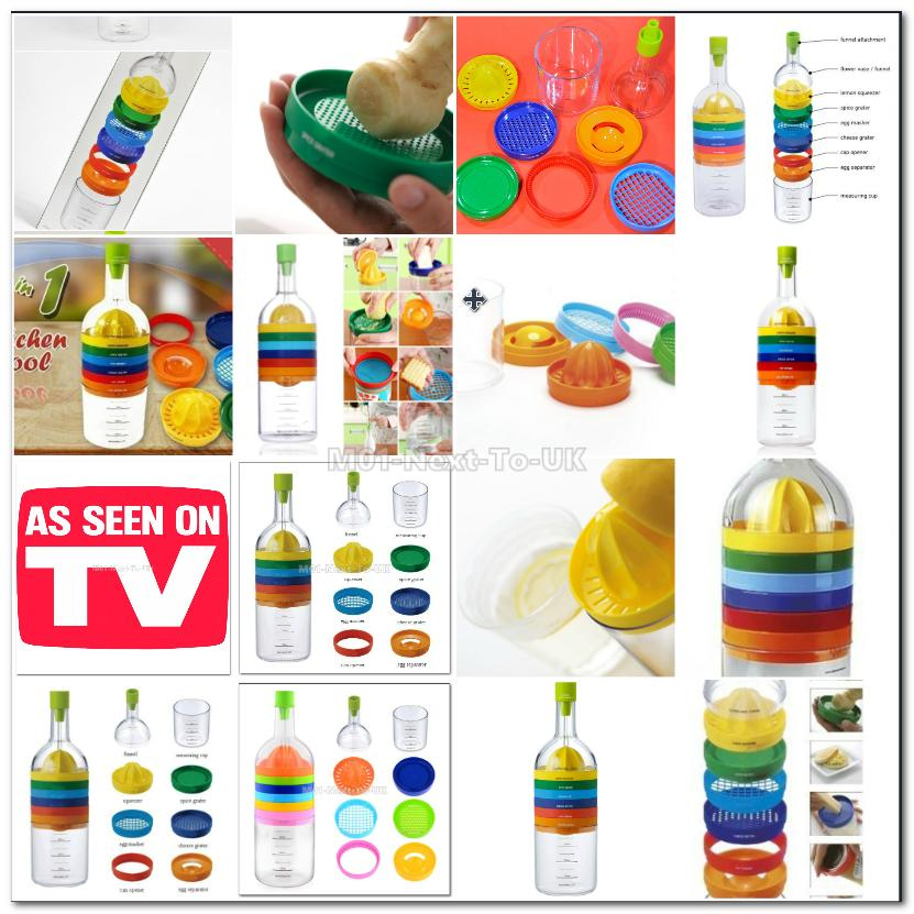 New Plastic Bin 8 Kitchen Tools Like Bottle Kitchen Multi-Function Too