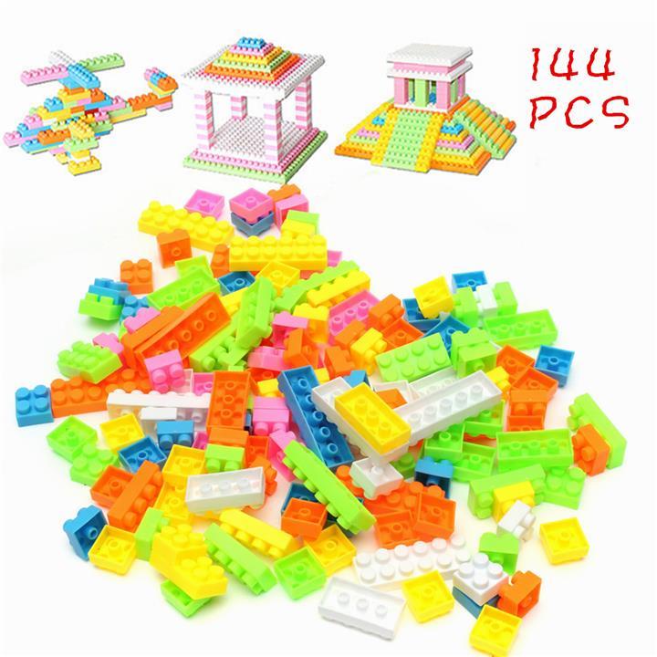Plastic Building Blocks Children Kids Puzzle Educational Toy Xmas Gif