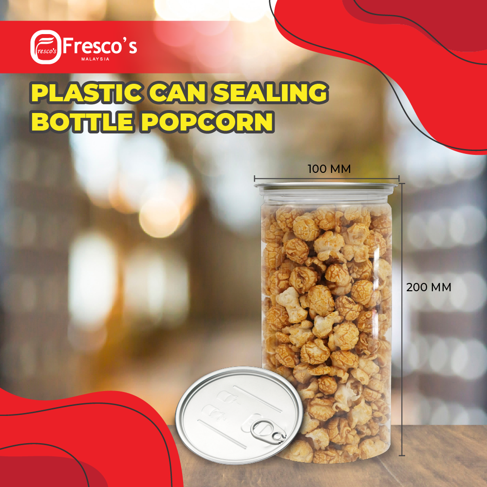 Plastic Can Sealing Bottle Popcorn 100mm x 200mm BUNDLE 60PC