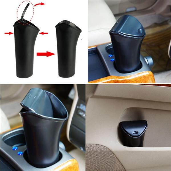 Plastic Home Car Trash Can Mini Garbage Can Desk Organizer