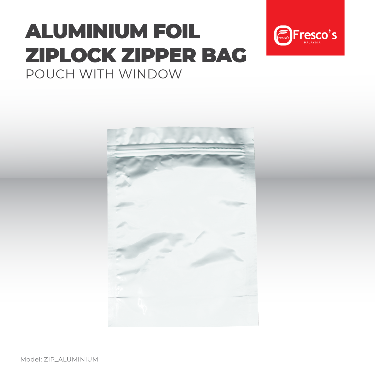 Plastic Ziplock Aluminium Standing Bag Pouch with Zipper 100pcs