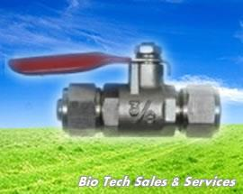 "Plated Ball Valve 1/4"" x 1/4"" Tube O.D (Water filter,Vending Machine)"