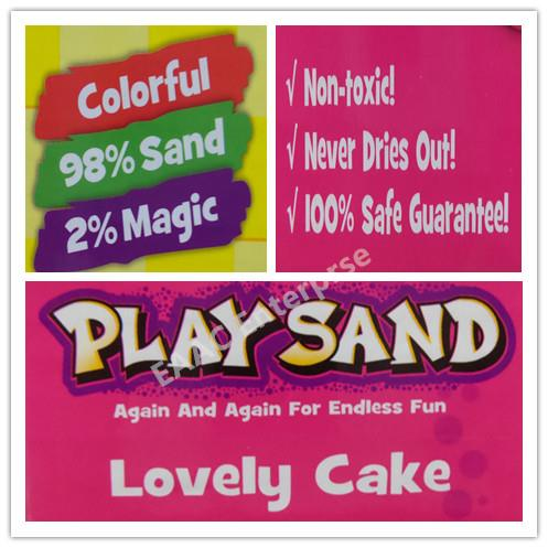 Play Sand DIY Educational Kit, Sand with Birthday Cake Moulds