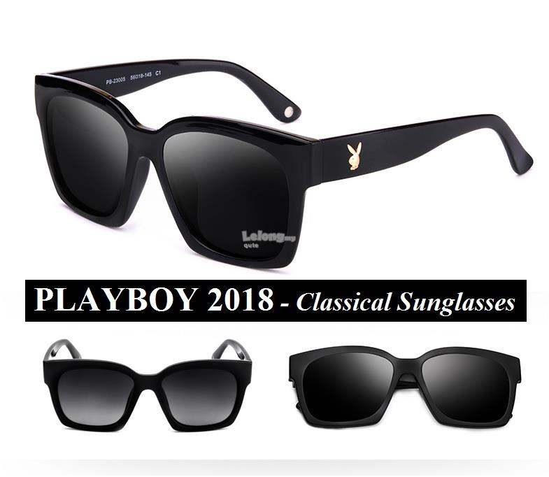 PLAYBOY 2018 - Classical Black Sunglasses for men