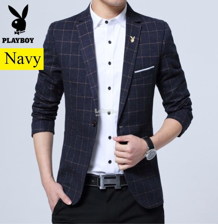 Playboy 2018NV – Low Profile Plaid Blazer for men