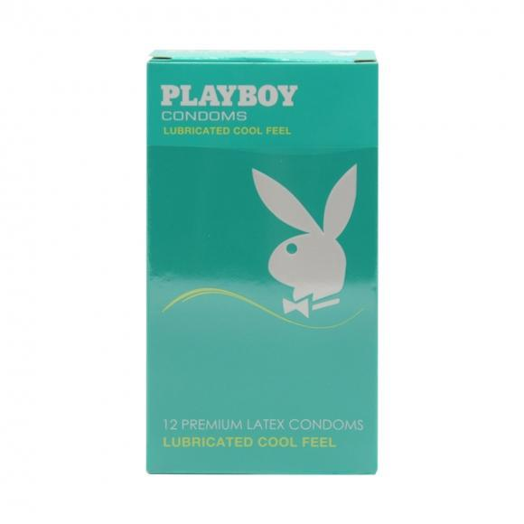 Playboy Lubricated Cool Feels Condom / Kondom - 12 pcs