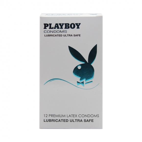 Playboy Lubricated Ultra Safe Condom / Kondom - 12 pcs