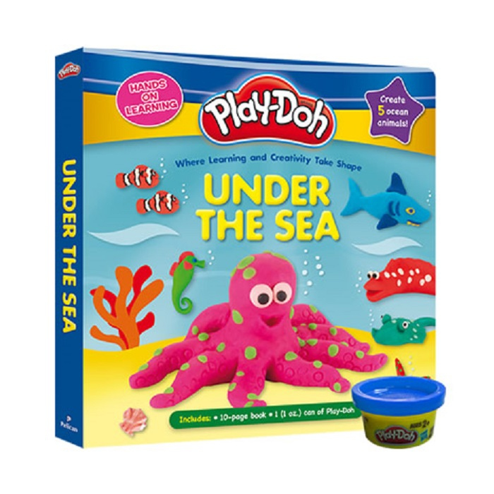 PlayDoh Deluxe Board Book with PlayDoh: Under The Sea