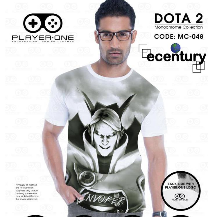 PLAYER.ONE DOTA 2 Gaming T-Shirt MC048 -INVOKER