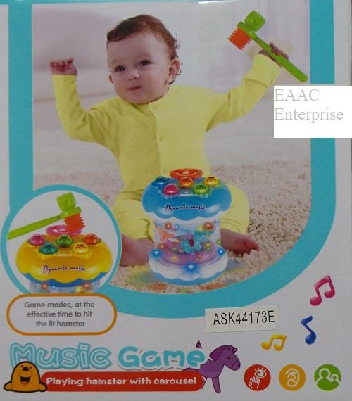 Playing Hamster Game With Carousel and Dynamic Music Kids / Baby Toys