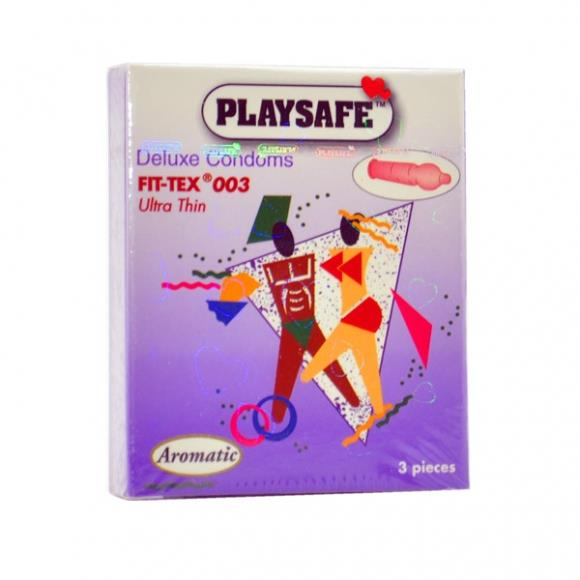 PLAYSAFE FIT-TEX 003 CONDOM - 3's
