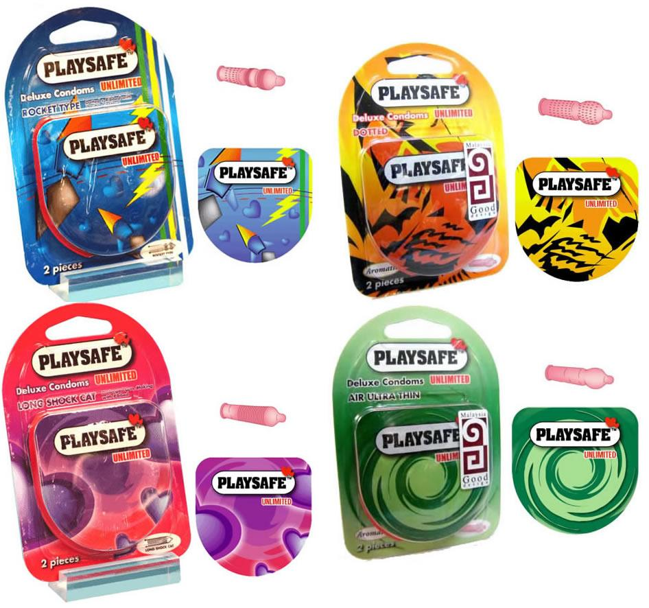 PLAYSAFE QUICK & EASY 4 in 1 COMBO SET CONDOM - 8's (Kondom)
