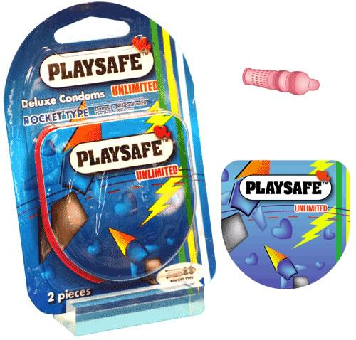 PLAYSAFE QUICK & EASY ROCKET CONDOM 2's