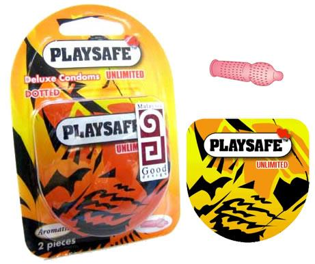 PLAYSAFE QUICK & EASY TIGER CONDOM 2's