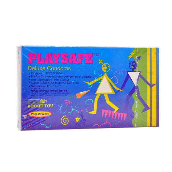 PLAYSAFE ROCKET TYPE CONDOM (KONDOM) - 12's