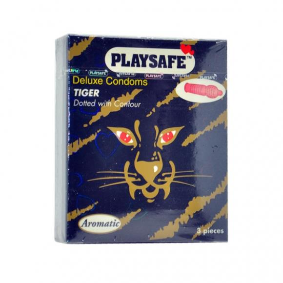 PLAYSAFE TIGER TYPE CONDOM - 3's