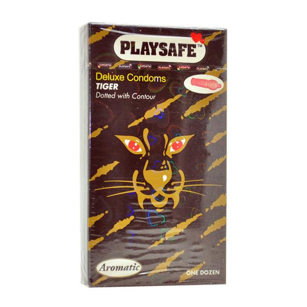 PLAYSAFE TIGER TYPE CONDOM (KONDOM) - 12's