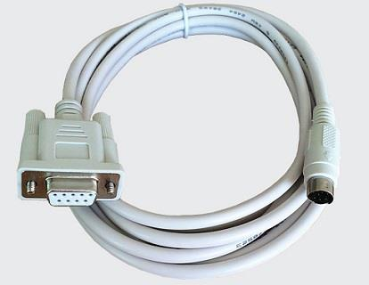 PLC Program Cable RS-232 DB9 F to Mini-Din 5p MD5 M FPX