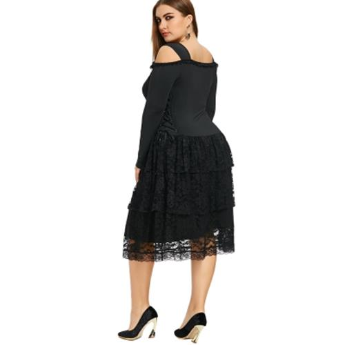 Plus Size Cold Shoulder Layered Goth End 6252020 330 Pm