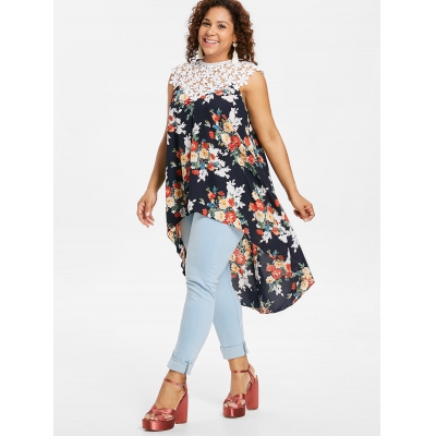 ce345574d26f3 Plus Size Floral Flowy Tank Top (CA (end 1 25 2021 12 00 AM)
