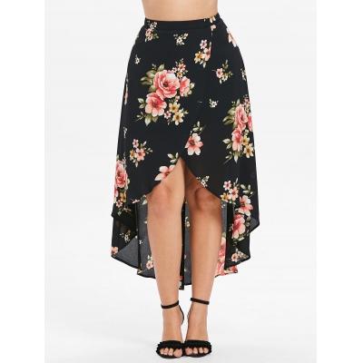 65b922a7bf8 Plus Size Floral Maxi Skirt (BLACK) (end 2 28 2021 12 00 AM)