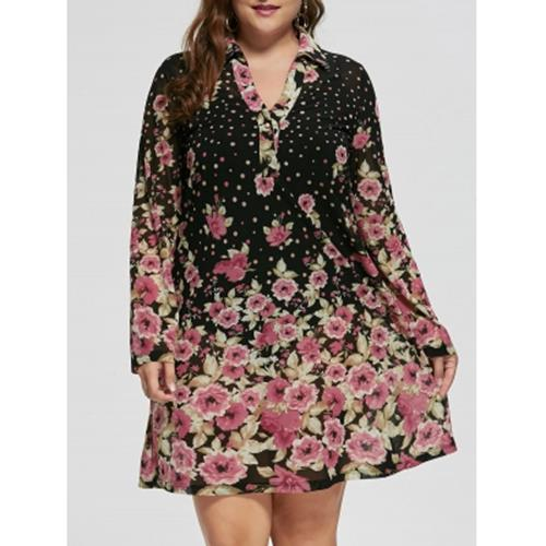 13b2c583b2 PLUS SIZE FLORAL SHEER LONG SLEEVE DR (end 7/5/2020 3:24 PM)