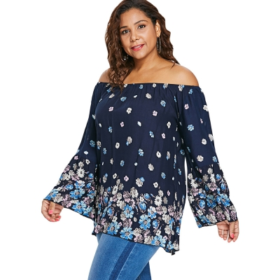 199f8f0865a Plus Size Flower Pattern Bell Sleeve (end 4 7 2021 12 00 AM)