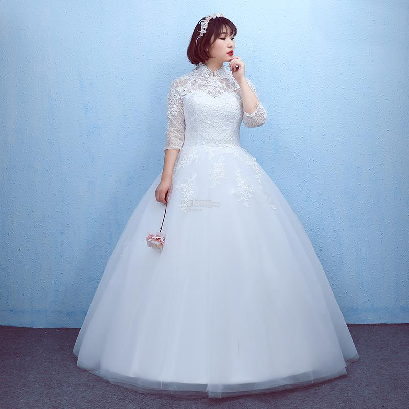 Plus size high neck wedding dress wi end 2272019 615 pm plus size high neck wedding dress with sleeves junglespirit Choice Image