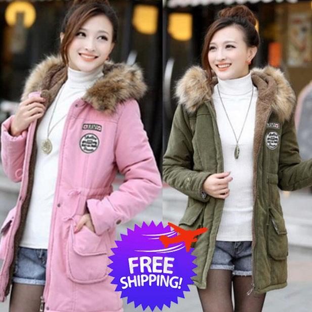 c6cb053e5 Plus Size Korean Fashion Women Hooded Winter Jacket Coat