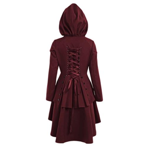 e411118f52b PLUS SIZE LACE UP HIGH LOW HOODED CO (end 12 5 2020 8 31 PM)